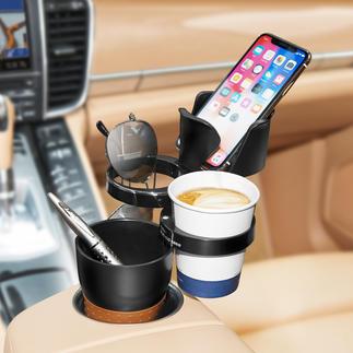 Car-organizer De ingenieuze Car-organizer maakt een einde aan los rondslingerende spullen in de auto.