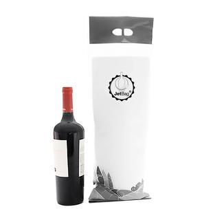 JetBag™ Eindelijk kunnen breekbare flessen twee keer zo veilig worden vervoerd.