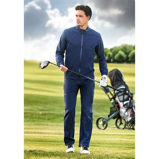 KJUS superlicht golf-regenjack of -broek Elastisch, waterdicht, ademend en handig klein op te bergen.