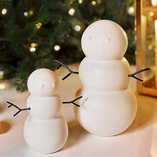 Sneeuwpoppen, set van 2 Supertrendy in een nieuw, onopvallend design. Perfect voor de winter en de kersttijd.