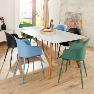 Kuipstoel 'Mila' voor binnen en buiten, set van 2 Herontdekking van een klassieker: een mooie en comfortabele aanwinst voor uw zit- en eethoek.