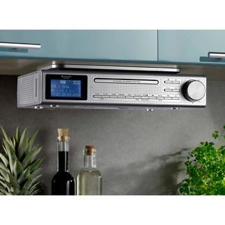 Keuken-muzieksysteem Elite Line Voor het luisteren naar FM- en digitale radio, cd en mp3. Met bluetoothverbinding, USB-weergave en cinch-aansluiting.