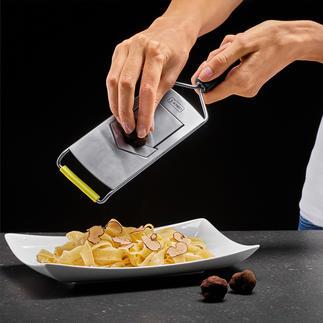 V-fijnschaaf Extreem scherp en met fantastische snij-eigenschappen. Ook ideaal voor kostbare truffels.