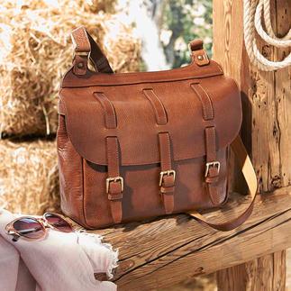 Saddlebag Saddlebag van fijn rundleer. Ideaal om mee te nemen naar de stad, op reis en naar kantoor. Van Chiarugi/Firenze, exclusief voor Pro-Idee.