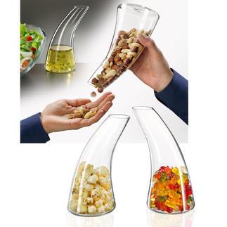 Snack-dispenser/karaf De mooiere (en smakelijkere) manier om hapjes te serveren.