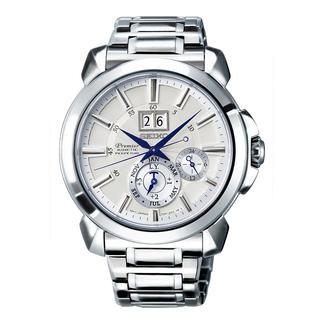 Seiko Premier Kinetic Perpetual herenhorloge SNP159P1 De energiebeparende Auto Relay-functie maakt een horlogeopwinder, handmatig opwinden en opnieuw instellen overbodig.