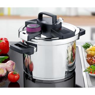 Snelkookpan Easy Click® Moderne snelkookpan en klassieke pan met een inhoud van 6 liter in één.