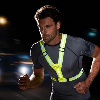 Led-veiligheidsvest Ideaal wanneer u in het donker fietst, hardloopt, wandelt, de hond uitlaat of op weg naar school gaat.