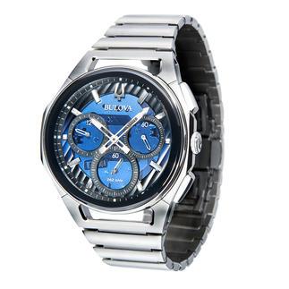 Bulova Curv-horloge De Bulova Curv: 's werelds eerste chronograaf met gebogen uurwerk. Winnaar van de Inhorgenta Award 2019*.