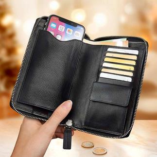 Braun Büffel gsm-portemonnee Tas, portemonnee en telefoonhoesje in één.