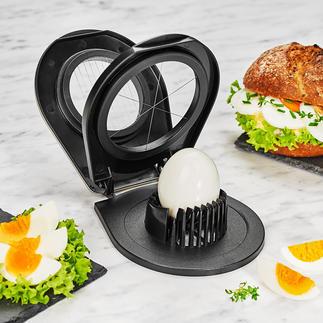 Gefu® duo-eiersnijder Dunne plakjes ei of decoratieve partjes: u maakt ze met één apparaat.