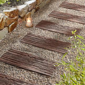 Gerecyclede staptegel, set van 4 Lichter dan echte stenen. Duurzamer dan hout.