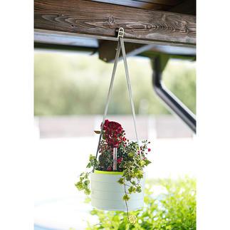 Plantenhouder Sunia Om op te hangen of neer te zetten. Met groot waterreservoir. Van stevige, waterbestendige kunststof.