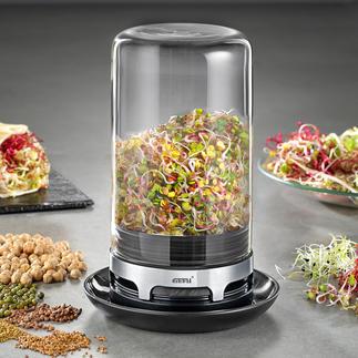 Gefu kiemglas Knapperig, gezond en lekker: malse kiemgroenten uit de eigen keukentuin.