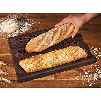 Siliconen baguette-bakmat Versgebakken baguettes net zoals in Frankrijk. Knapperig van buiten, luchtig van binnen.