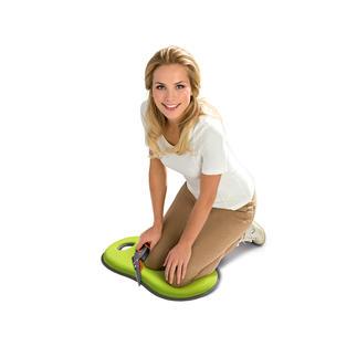 Knie- en zitkussen Ideaal tijdens het tuinieren,renoveren,schoonmaken. Ook voor langdurig zitten in koude stadions & parkbanken.