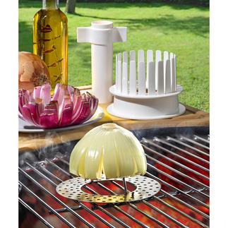 Blooming Onions-set, 3-delige set 'Bloeiende uien' van de grill – een onweerstaanbaar genot voor de smaakpapillen en de ogen.