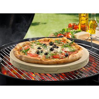Dubbele pizzasteen Bakt steenoven-pizza onovertroffen gelijkmatig en licht knapperig, met sappig beleg.