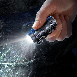 1.000 lumen-minizaklamp Minizaklamp van de nieuwste generatie. Nog kleiner. Nog lichter. Nog krachtiger.