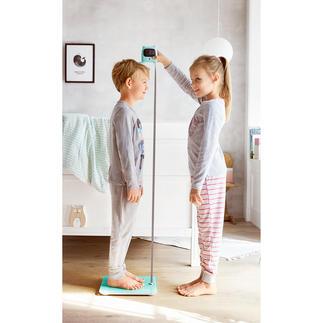 Weegschaal met meetlint De nieuwe generatie personenweegschalen: weegt en meet zelfs je lichaamslengte.