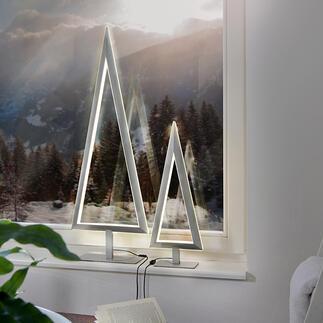 LED-dennenboom Puristisch design: metalen dennenboom met expressieve dubbele ledverlichting. Van Villeroy & Boch.