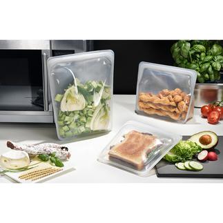 Stasher Bag Stasher Bags, de herbruikbare levensmiddelenzakjes van siliconen. Geschikt voor het bewaren, meenemen, invriezen, koken en zelfs voor sous-vide koken.