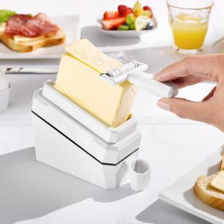 Boterschaaf'butter-leaf' Met deze geniale uitvinding schaaft u flinterdunne plakjes koude boter af.