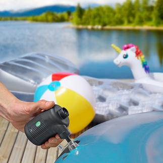 2-in-1-accu-luchtpomp Voor het oppompen van een luchtbed, opblaasboot en speeldier, het aanwakkeren van een barbecue en haard, en het ontluchten van vacuüm-kledingzakken.