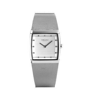 Obaku vierkant horloge Smal en elegant in plaats van groot en opvallend. Tijdloos Deens design. Goed afleesbare wijzerplaat.
