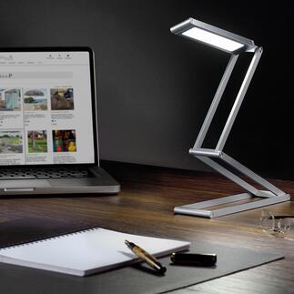 Opvouwbare ledlamp op accu Compact en snoerloos. Handig om mee te nemen op reis, voor op de camping, in de tuin, …