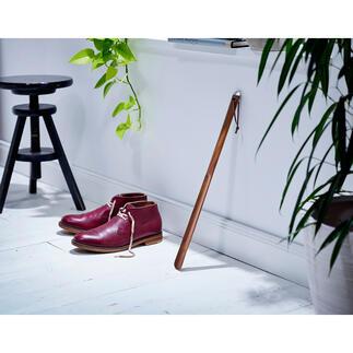 Schoenlepel Eindelijk een schoenlepel die er goed uitziet en ook goed is voor je rug.