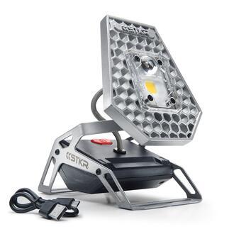 Snoerloze led-lamp Geniaal flexibele lamp met accu en 10 W-power-led: geeft tot wel 7½ uur licht. Waar en hoe u het maar nodig hebt. Binnen en buiten.