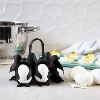 Egguins-eierhouder Deze eierhouder met een schattig pinguïnontwerp is origineel en praktisch. Met handvat, om tot wel zes eieren tegelijkertijd mee te koken en serveren.