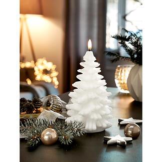 UYUNI Lighting led-kaars dennenboom Prachtig driedimensionaal uitgevoerd van echte was. Met zeer realistisch vlammenspel.