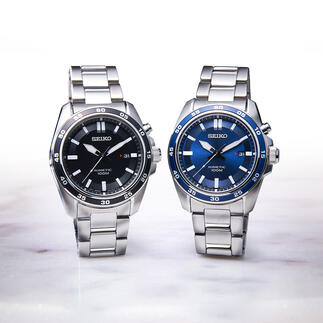 Seiko kinetisch horloge Loopt tot 100 keer langer dan gangbare automatische horloges. Voor zowel dames als heren.