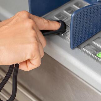 SafetyTouch® sleutelhanger Nooit meer zonder: beschermt je vingers tegen virussen + bacteriën + vuil.
