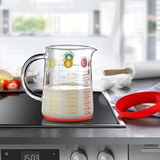 Glazen maatbeker all-in-one De all-in-one maatbeker voor afmeten, verwarmen, mixen en nog veel meer.
