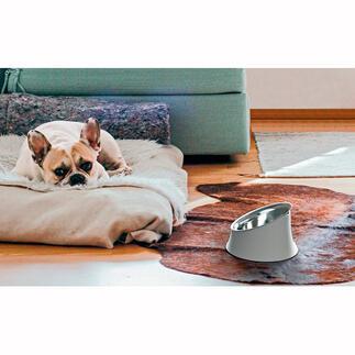 Alessi hondenbak asymmetrisch Uw hond zal netjes eten en dat bespaart u werk: voerbak in asymmetrisch design van Alessi.