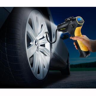 Draadloze compressor 4,5bar Controleer de bandenspanning en pas deze aan, thuis en onderweg. Net zo gemakkelijk als bij een tankstation.