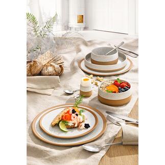 Servies Caja, elk in set van 6 Drie trends in één servies: Scandinavisch design, ambachtelijke uitstraling en natuurlijk aardewerk. Van ASA Selection/Germany.