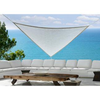 Schaduwdoek Weerbestendig Tyvek® Soft beschermt u tegen fel zonlicht, is uv-bestendig en uiterst robuust. Gemaakt in Duitsland.