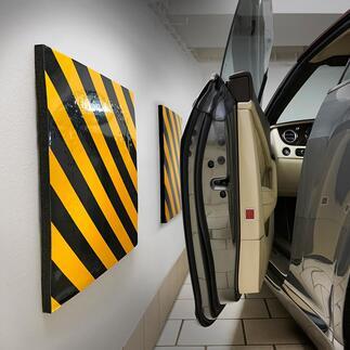 Garage-muurkussen, set van 2 Krassen op uw autodeur zijn vanaf nu verleden tijd.