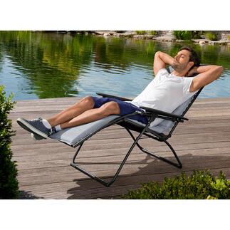 Lafuma relaxstoel Relaxen als nooit tevoren: ervaar de rustpositie van astronauten tijdens een ruimtereis. Relaxstoel 'made in France'.