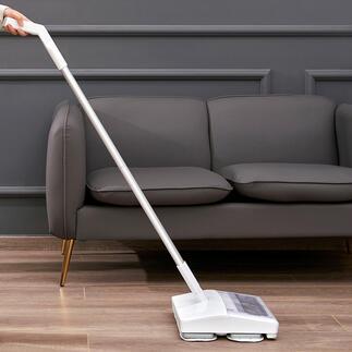Draadloze vloerreiniger met trilfunctie Ingenieus: stofzuigen en dweilen in één beweging – nu met trilfunctie voor een nog grondigere reiniging.