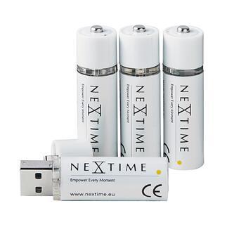 Via USB oplaadbare AA-batterijen, set van 4 De nieuwe generatie oplaadbare batterijen. Zonder oplader en zonder kabel. Gemakkelijk op te laden via de USB-poort.