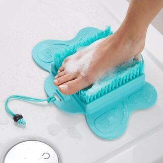 Voetverzorgingsborstel Schone en zijdezachte voeten zonder te bukken of door uw rug te gaan.