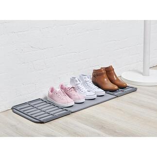 Opvouwbare schoenenmat Handige opbergplek voor natte en vieze schoenen. Neemt geen onnodige ruimte in beslag.