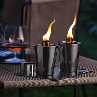 Tafelfakkel, set van 2 Creëer een romantische sfeer: tafelfakkels met de aantrekkingskracht van open vuur. Perfect voor uw tuin en terras.
