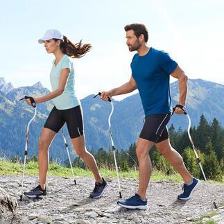 Ergocurve Nordic Walking-stokken Ontworpen voor efficiënte en moeiteloze bewegingen. Ergonomisch gevormd om de schouder en pols te ontlasten.