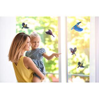 Waarschuwingsstickers voor vogels, met gekleurde binnenkant, 10-delige set Een bescherming voor vogels en een decoratieve blikvanger in één. Gemakkelijk aan te brengen en te verwijderen zonder dat er restjes achterblijven.
